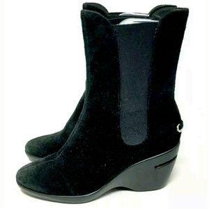 Cole Haan Nike Air Black Kierstin Boots 7B